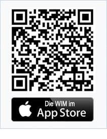 WIM als APP im Apple AppStore QR-Code
